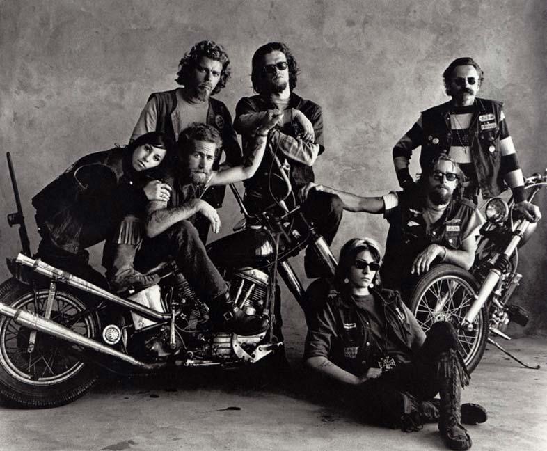 Hell's Angels na lente do fotógrafo americano Irving Penn